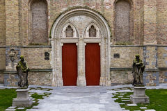 Ornate entrance to a church building Stock Photo