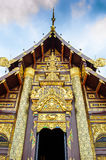 Ornate entry into temple in Chiang Mai. Ornate entrance to Chiang Mai temple Royalty Free Stock Photo