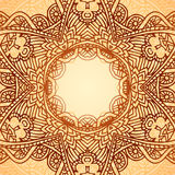 Ornate ethnic circle vector frame Royalty Free Stock Images