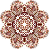 Ornate ethnic henna colors vector mandala Royalty Free Stock Photos