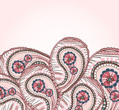 Ornate ethnic petals Stock Photo