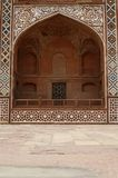 Ornate facade of Akbar's Tomb. Agra, India royalty free stock photography