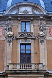 Ornate facade in baroque style Royalty Free Stock Photography