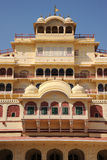 Ornate facade at the city palace, Jaipur, India. Stock Photo