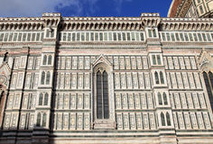 Ornate facade of Dome of the Cathedral of Santa Maria del Fiore, Royalty Free Stock Photography