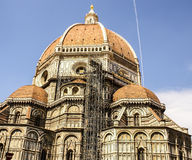 Ornate facade of the Duomo of Florence, Royalty Free Stock Images