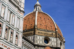 Ornate facade of the Duomo of Florence Stock Photo