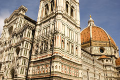 Ornate facade of the Duomo of Florence Royalty Free Stock Images