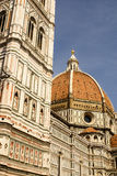 Ornate facade of the Duomo of Florence. Italy stock image