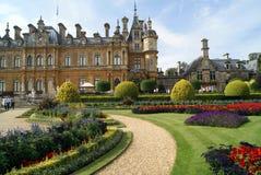 Ornate facade and garden Royalty Free Stock Photo