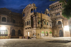 Ornate facade of Haveli Stock Images