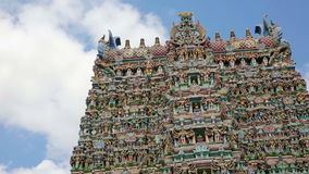 Ornate facade of Hindu temple Royalty Free Stock Image