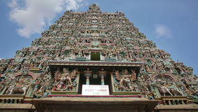 Ornate facade of Hindu temple. In detail stock video