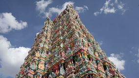 Ornate facade of Hindu temple Stock Image