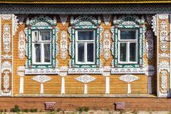 Free Ornate Facade Of Russian Wooden House Stock Photo - 75016040