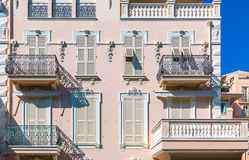 Ornate facade of residential buildings in Monaco Royalty Free Stock Photo