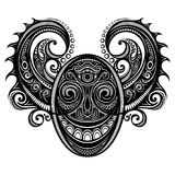 Ornate Face of Demon Royalty Free Stock Images