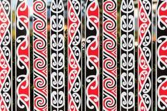Ornate fance with Maori pattern Stock Photo