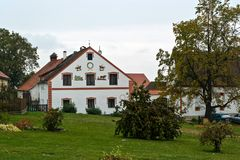 Ornate farm house in a small village Royalty Free Stock Photography