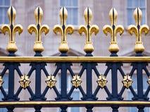 Ornate fence. Outside Buckingham Palace, London, England Stock Images