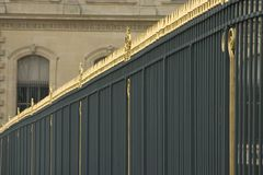 Ornate fence. Surrounding Louvre museum, Paris, France Royalty Free Stock Photography