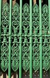 Ornate fence. Architectural detail of green ornate fence in London, UK Royalty Free Stock Image