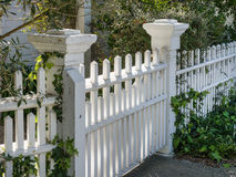 Gate and fence details. Ornate fence and gate details Stock Photo