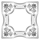Ornate filigree frame black and white Royalty Free Stock Photos