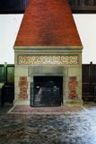 Ornate Fireplace - Abandoned Music Room in Mansion Stock Photography