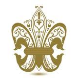 Ornate Fleur De  Lis Stock Images