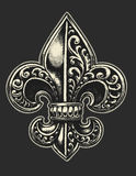 Ornate Fleur de Lis Royalty Free Stock Image