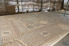 Ornate floor mosaics at the Basilica of Moses), Mount Nebo, Jordan Royalty Free Stock Image