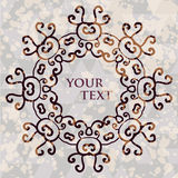 Ornate floral asian mandala. Round frame for your Royalty Free Stock Images