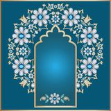 Ornate floral background. In Arabian and Indian style stock illustration