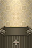 Ornate floral background and decorative frame. Stock Images