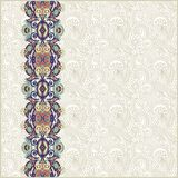 Ornate floral background with ornament stripe Stock Photography