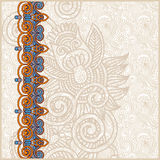 Ornate floral background with ornament stripe Stock Photos