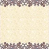 Ornate floral background with ornament stripe Stock Image