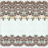 Ornate floral background with ornament stripe Royalty Free Stock Photography