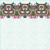 Ornate floral background with ornament stripe Royalty Free Stock Photo