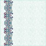 Ornate floral background with ornament stripe Royalty Free Stock Images