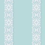 Ornate floral background with ornament stripe vector illustration