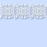 Ornate floral background with ornament stripe Royalty Free Stock Image