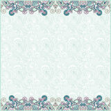 Ornate floral background with two ornament stripe Royalty Free Stock Photography