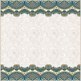 Ornate floral background with two ornament stripe Royalty Free Stock Photos
