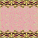 Ornate floral background with two ornament stripe Stock Image