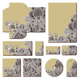 Ornate floral business style templates Stock Image
