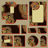 Ornate floral business style templates Stock Photography