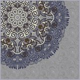 Ornate floral card with ornamental circle template Royalty Free Stock Photos