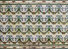 Ceramic tiles with a floral garland patterns stock photos